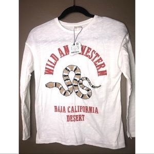 NWT ZARA Girl | Wild & Western Embroidered L/S Top
